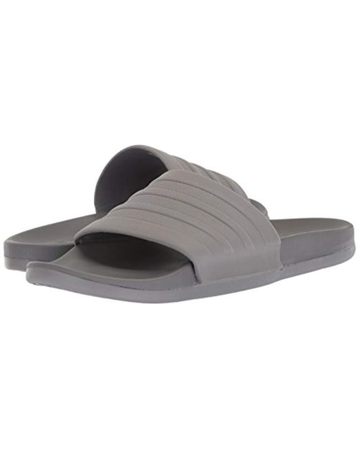 34452cd76 ... Adidas - Gray Performance Adilette Comfort Slide Sandal