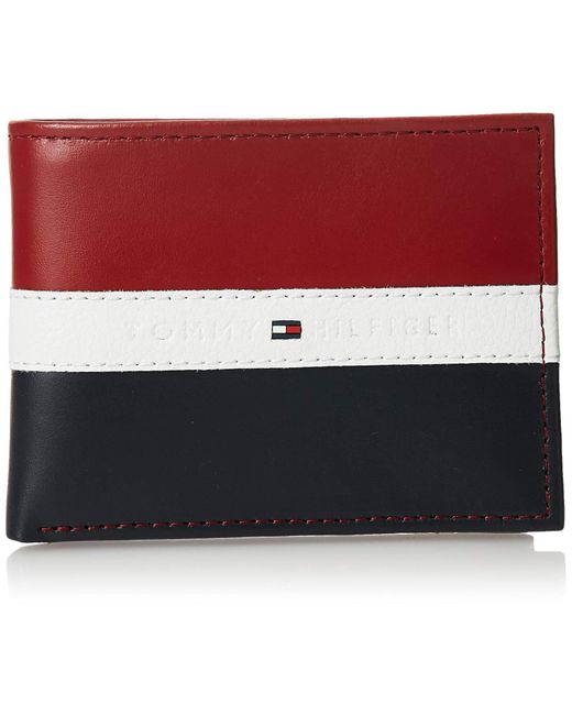 Tommy Hilfiger Leather Wallet – Slim Bifold With 6 Credit Card Pockets And Removable Id for men