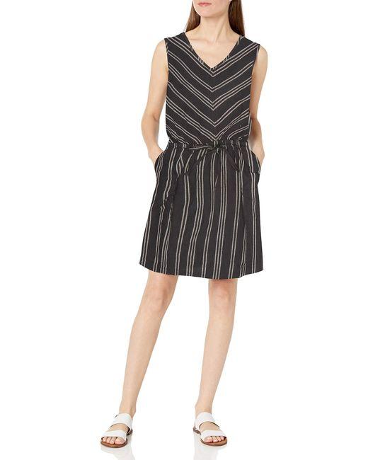 Sleeveless Linen Dress Amazon Essentials de color Black