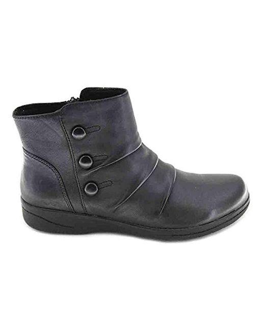 1a509c13da7 Women's S Cheyne Anne Black Soft Leather Flat Ankle Boots