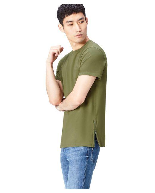Camiseta con Cremalleras Laterales FIND de hombre de color Green