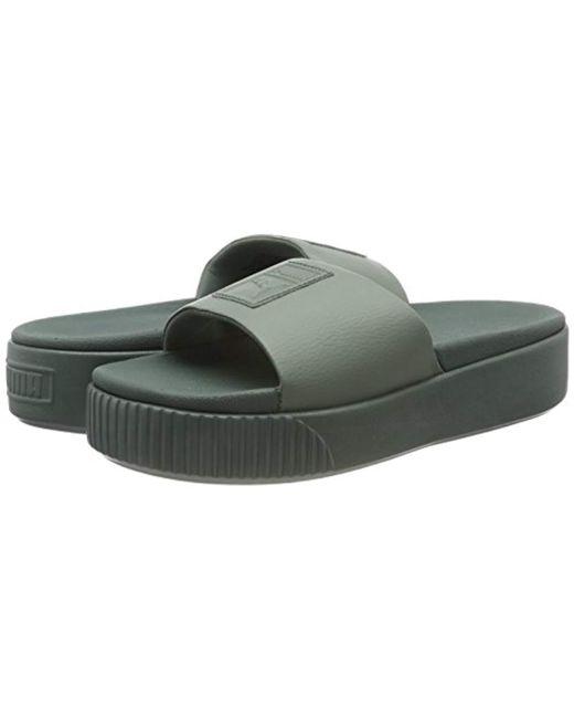 93c6353476df Puma Platform Slide Wns Beach   Pool Shoes in Gray - Lyst