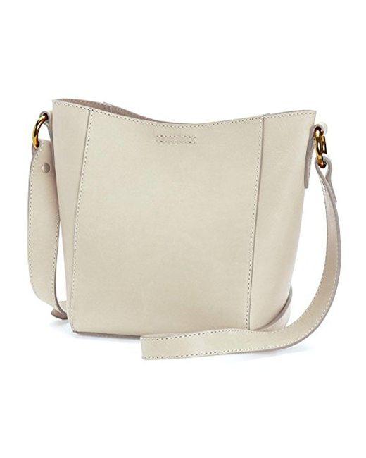 Frye - White Harness Crossbody Bucket Bag - Lyst