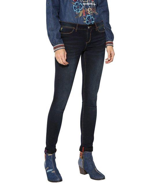 Second Skin Skinny Jeans Desigual en coloris Blue