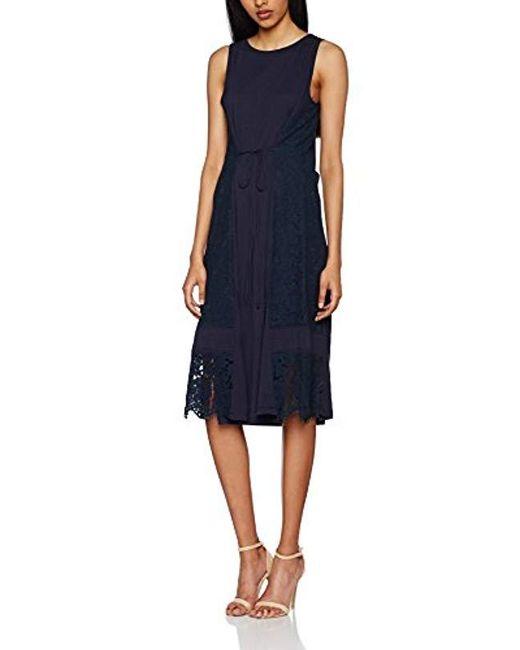 Great Plains - Blue 's Lorenzo Lace Mix Sleeveless Dress - Lyst