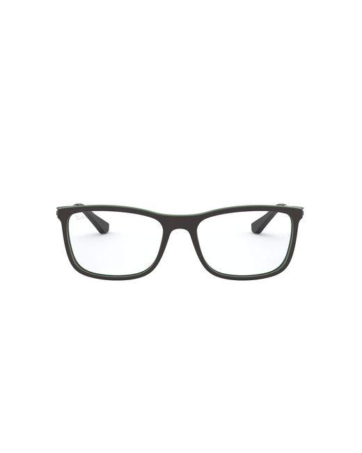 0rx 7029 5197 55 Monturas de gafas Ray-Ban de hombre de color Black