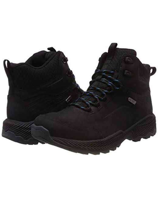 302ab3d4 Merrell Forestbound Mid Waterproof High Rise Hiking Boots in Black ...