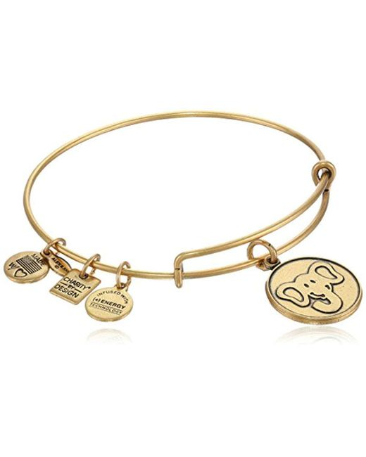 """ALEX AND ANI - Metallic """"charity By Design"""" The Elephant Expandable Wire Bangle Bracelet, 7.75"""" - Lyst"""