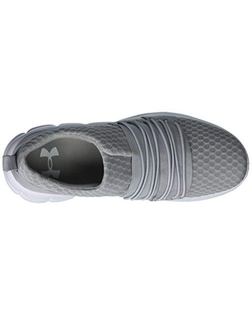Overcast Gray //White 104 Under Armour Women/'s Slouchy Slip Sneaker 8.5