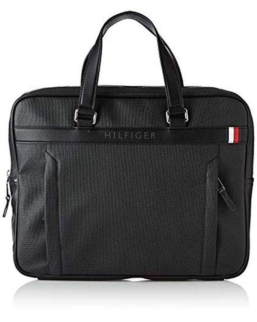 Sacoche extraplate ordinateur portable Sacoche extra fine pour ordinateur Tommy Hilfiger pour homme en coloris Black