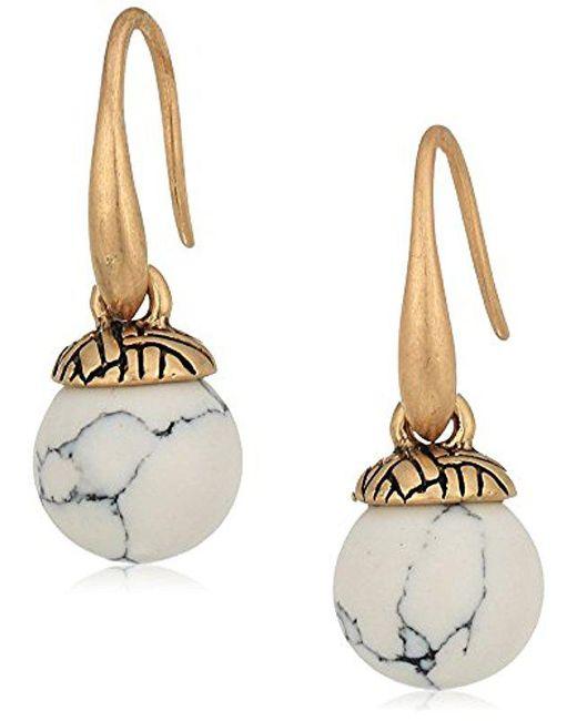 The Sak - White Semi-precious Color Bead Drop Earrings - Lyst