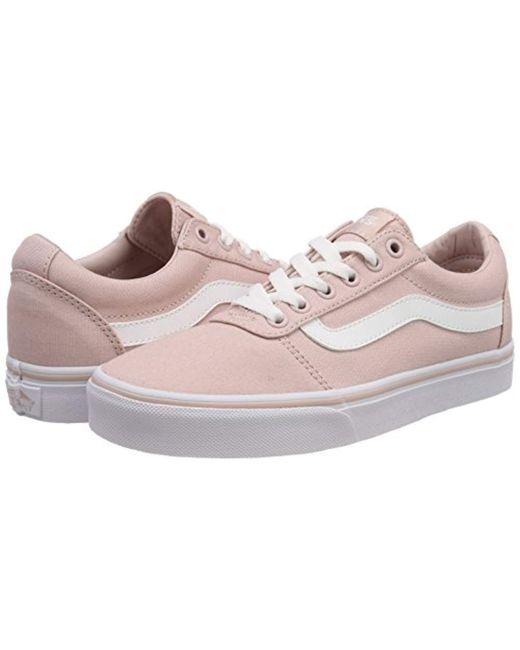 Ward Canvas, Zapatillas para Mujer Vans de color Rosa 27