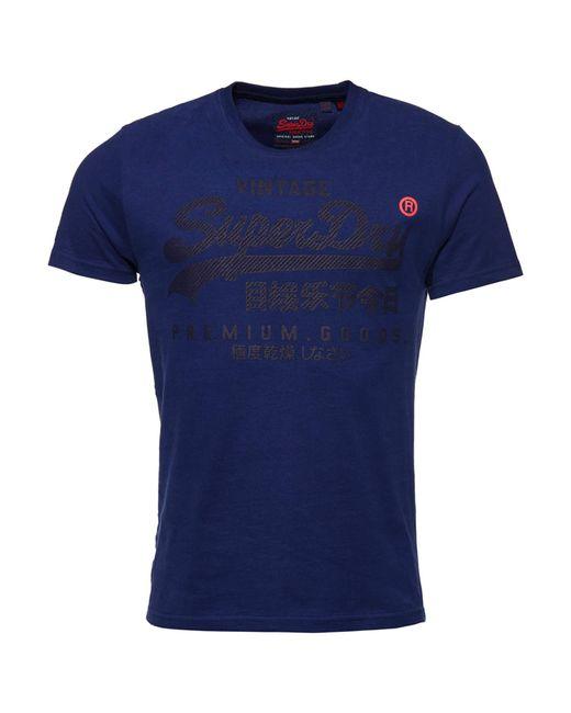T-Shirt Ton sur Ton Premium Goods Blueprint L Superdry pour homme