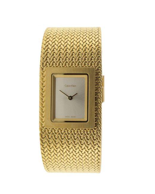Orologio Analogico Quarzo Donna con Cinturino in Acciaio Inox K5L13536 di Calvin Klein in Metallic