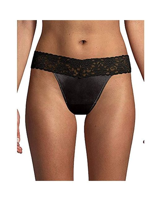 fecf122040 Lyst - Maidenform S Dream Lace Thong Panty in Black