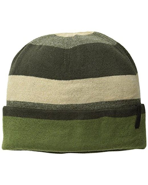 Timberland - Green Stripe Reversible Watch Cap - Lyst