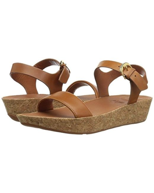 939c698478bd ... Fitflop - Brown Bon Ii Back-strap Leather Open Toe Sandals - Lyst ...