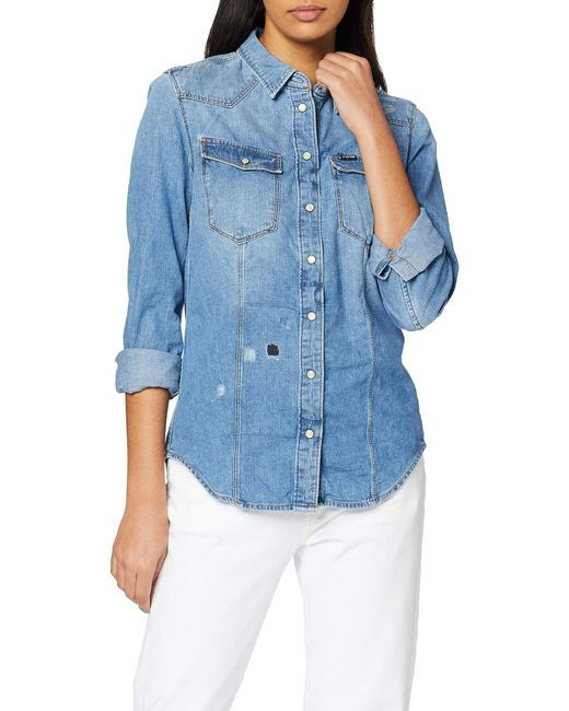 3301 Slim Long Sleeve Camicia di G-Star RAW in Blue