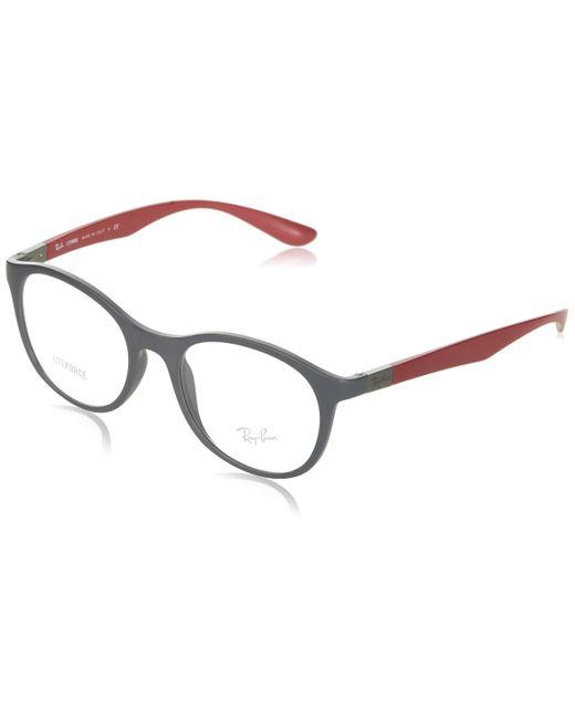 0RX7166 Monturas de gafas Ray-Ban de color Gray