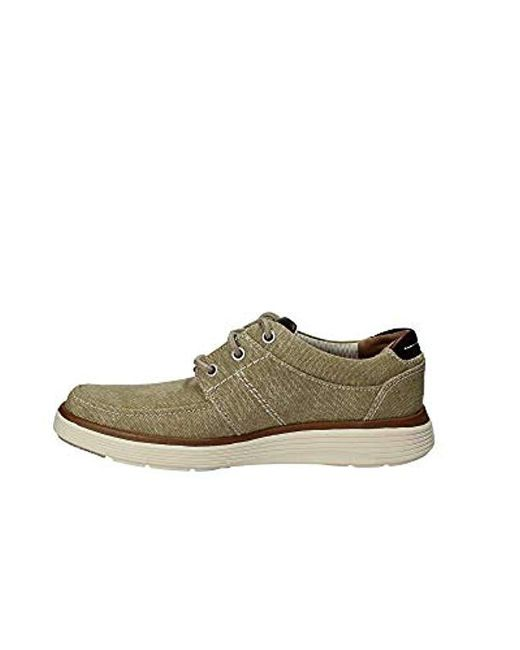 new style of 2019 for whole family select for clearance Clarks Natural Canvas 'un Abode' Lace Up Shoes in Green for ...
