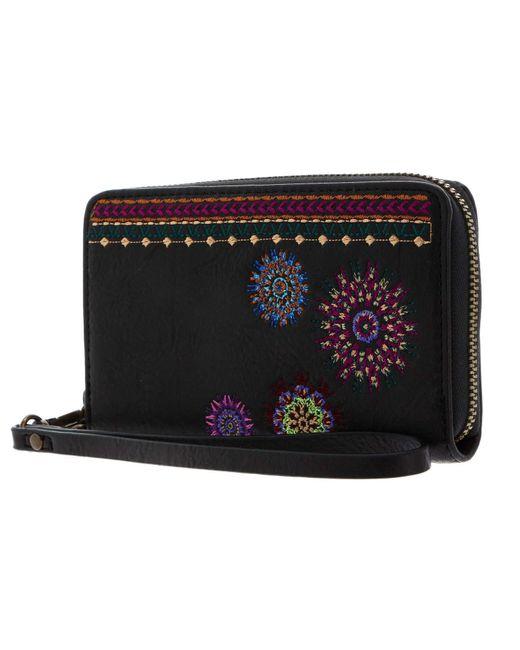 Astoria Mini Zip Medium Wallet Negro di Desigual in Multicolor