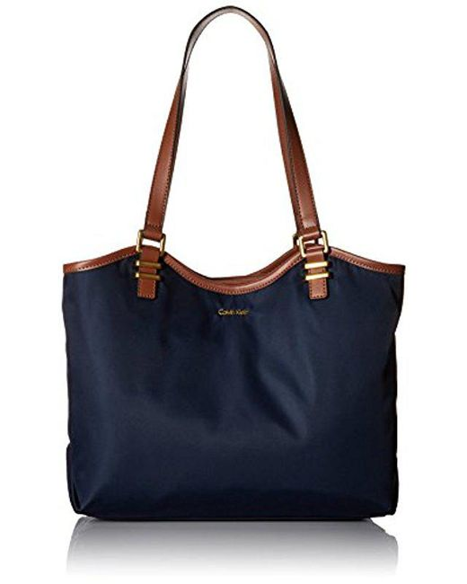 CALVIN KLEIN 205W39NYC - Blue Bailey Nylon North/south Tote - Lyst