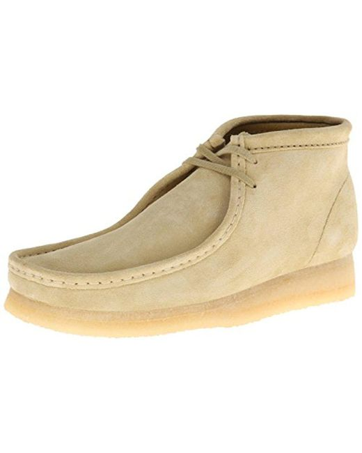 Clarks Multicolor Wallabee Suede Chukka Boots for men