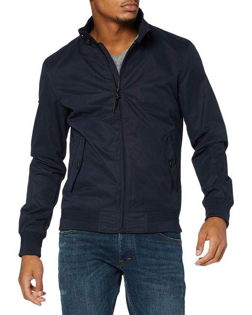 Superdry Blue Iconic Harrington Jacket for men