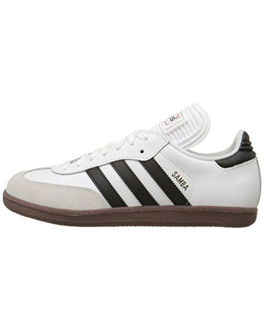 lyst adidas samba classica performance indoor scarpa da calcio in bianco.