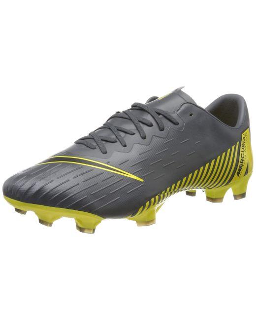 Nike Vapor 12 Elite FG Game Over Fußballschuh für normalen Rasen in Gray für Herren