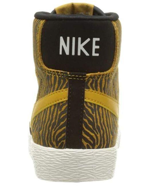 sneakers for cheap de19d acbd8 ... Nike - Black s Wmns Blazer Mid Suede Print Low-top Sneakers ...