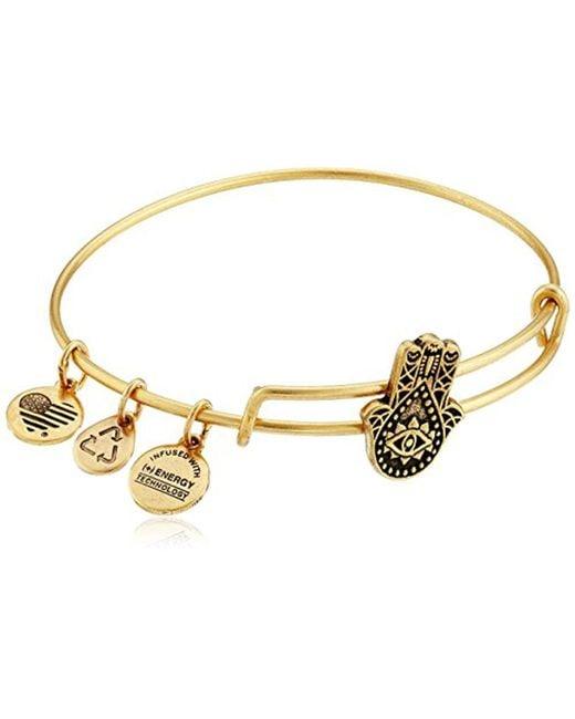 ALEX AND ANI - Metallic Hand Of Fatima Slider Bangle Bracelet - Lyst