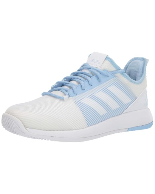 Adidas Blue Adizero Defiant Bounce 2 Tennis Shoe