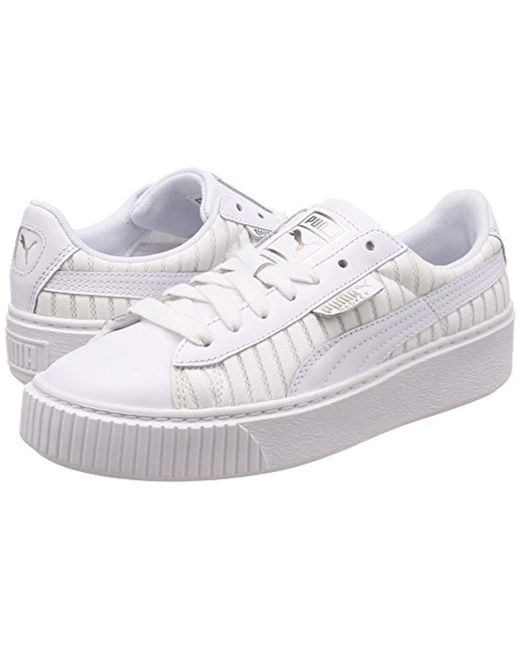 9f4fc61beddca PUMA Basket Platform Ep Wn's Trainers in White - Save 31% - Lyst