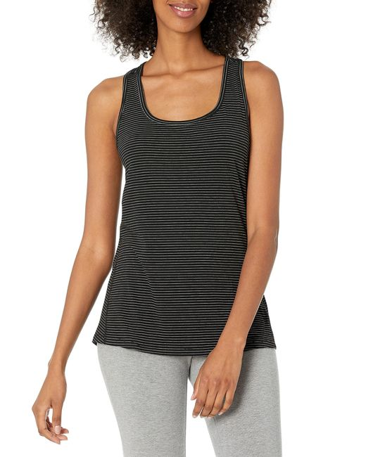 Patterned Studio Racerback Tank Top-And-Cami-Shirts di Amazon Essentials in Black
