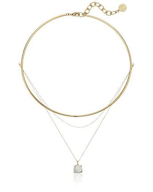 Vince Camuto - Multicolor S Multi Stone Necklace - Lyst