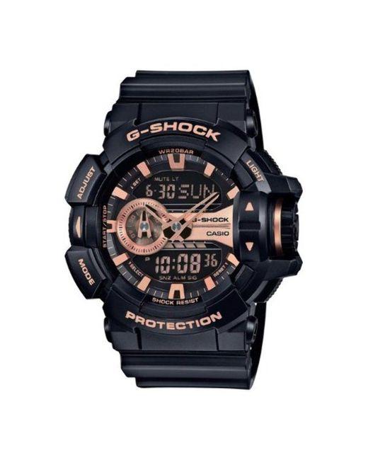 G-Shock Black and Rose Gold-Tone Dial Resin Quartz Watch GA400GB-1A4 di G-Shock