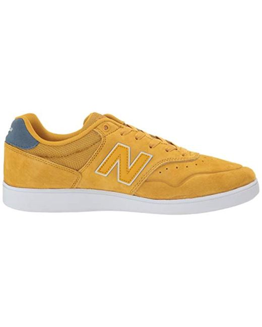 8ee5593f Men's Yellow Nm288 Ankle-high Leather Skateboarding Shoe