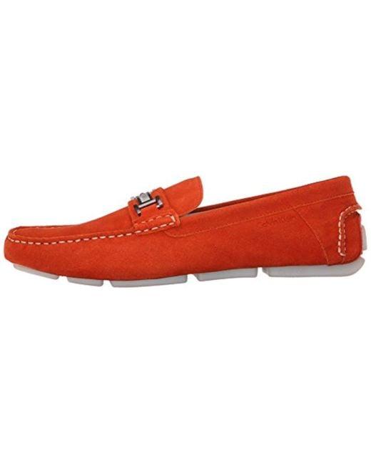 da878cdf57e ... Calvin Klein - Red Magnus Slip-on Loafer for Men - Lyst ...