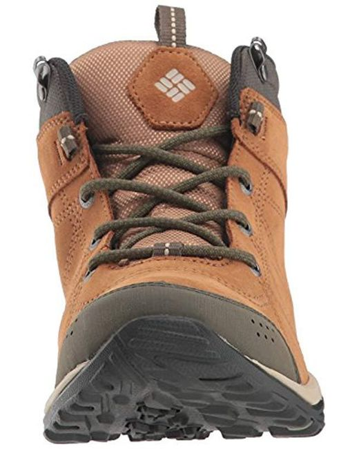 51510b5e9ae Columbia Fire Venture Mid Suede Waterproof Hiking Boot in Brown ...