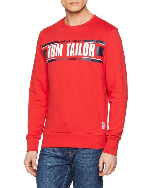 Tom Tailor Basic Sweatshirt in Red für Herren
