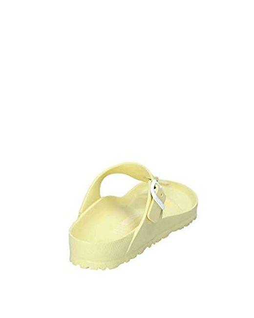 e556633b5550 ... Birkenstock - Yellow Gizeh Flip Flops Black - Lyst ...