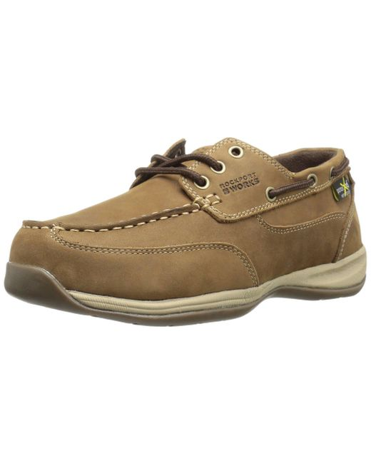 Rockport Brown Work Sailing Club Rk6734 Industrial And Construction Shoe for men