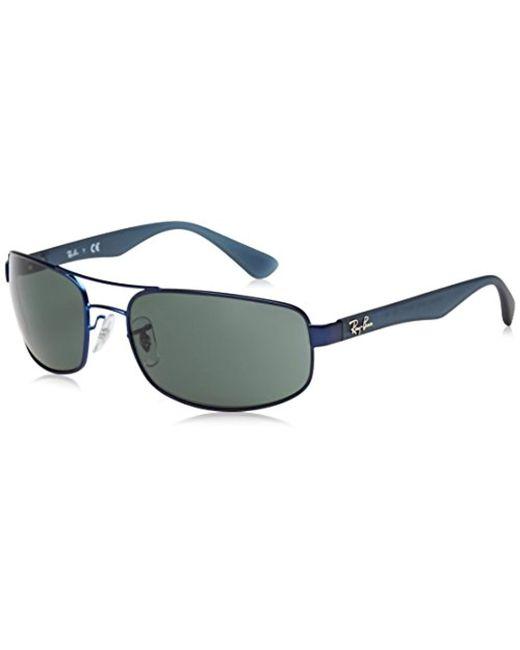 Hombre Gafas de Sol de Acero Orb, Negro Ray-Ban de hombre de color Blue