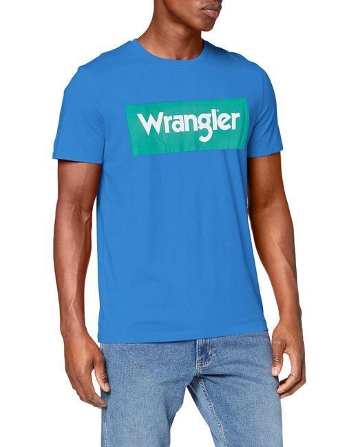 SS Logo Tee T-Shirt di Wrangler in Blue da Uomo