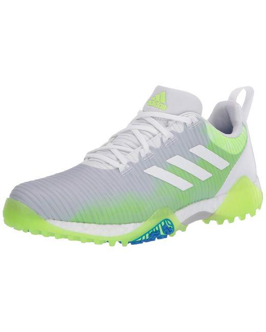Adidas White Codechaos Golf Shoes for men