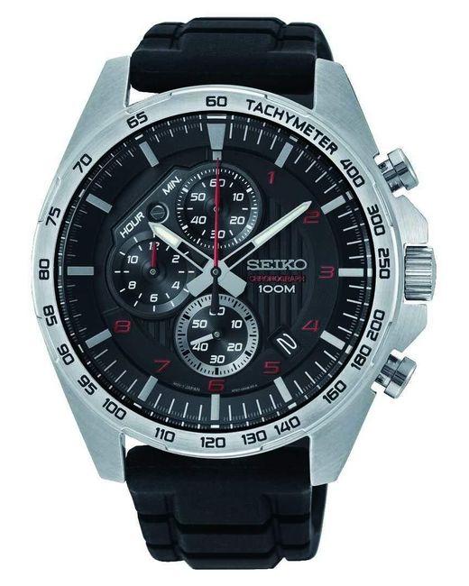 Orologio Cronografo Quarzo Uomo con Cinturino in Acciaio Inox SSB325P1 di Seiko in Black da Uomo