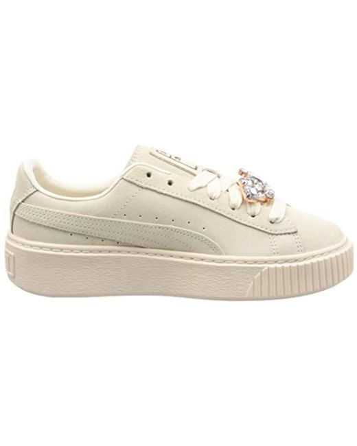 a65f4851964f5 PUMA Suede Platform Gem Wn's Low-top Sneakers in White - Save 37% - Lyst