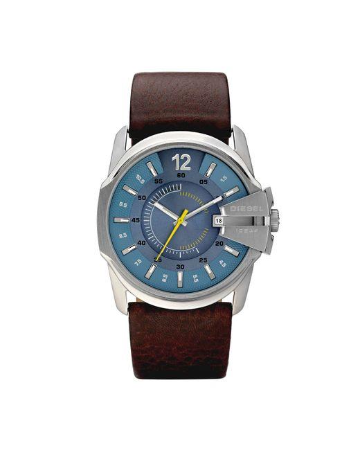 Orologio Analogico Quarzo Uomo con Cinturino in Acciaio Inossidabile DZ1399 di DIESEL in Blue da Uomo
