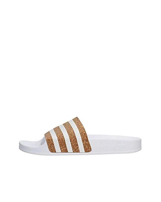 new arrivals 102a0 4b528 Adidas - White Adilette W Water Shoes - Lyst ...